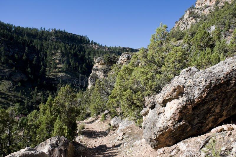 Тропка через большие горы рожочка стоковые фотографии rf