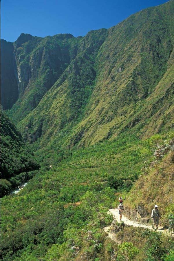 тропка inca стоковая фотография