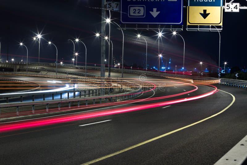 тропки ночи стоковая фотография