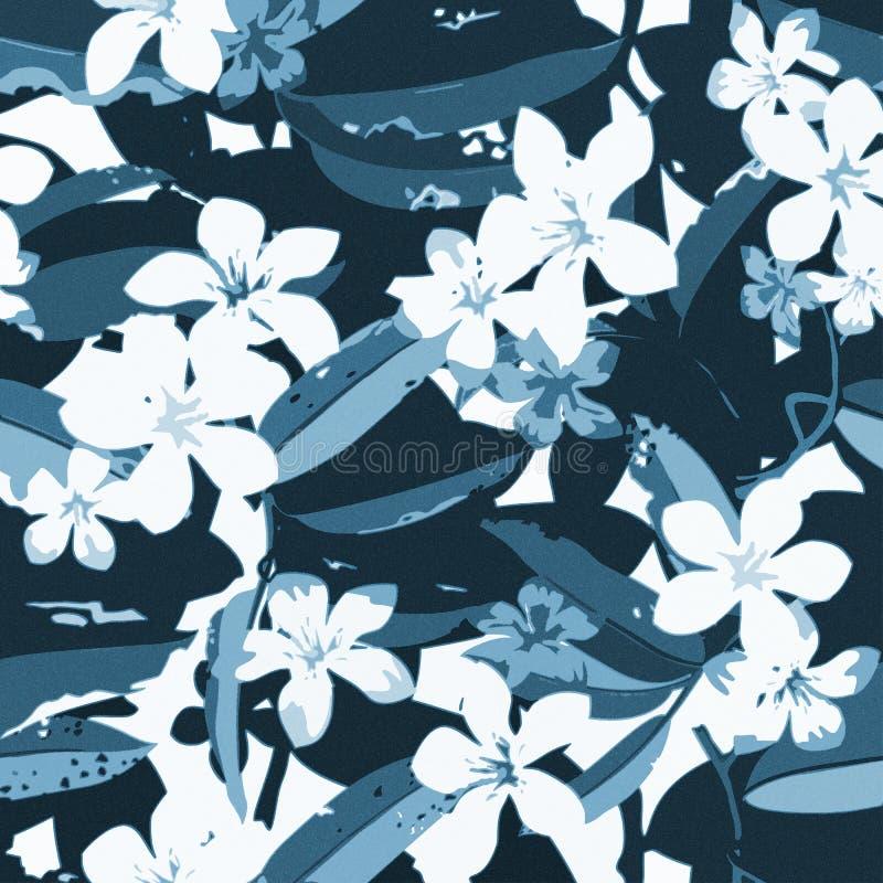 Троповая флористическая экзотическая безшовная картина вектора иллюстрация штока