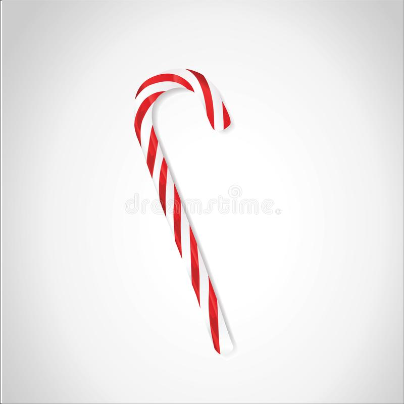 Тросточка конфеты или ручка леденца на палочке изолированная на белизне стоковое изображение rf