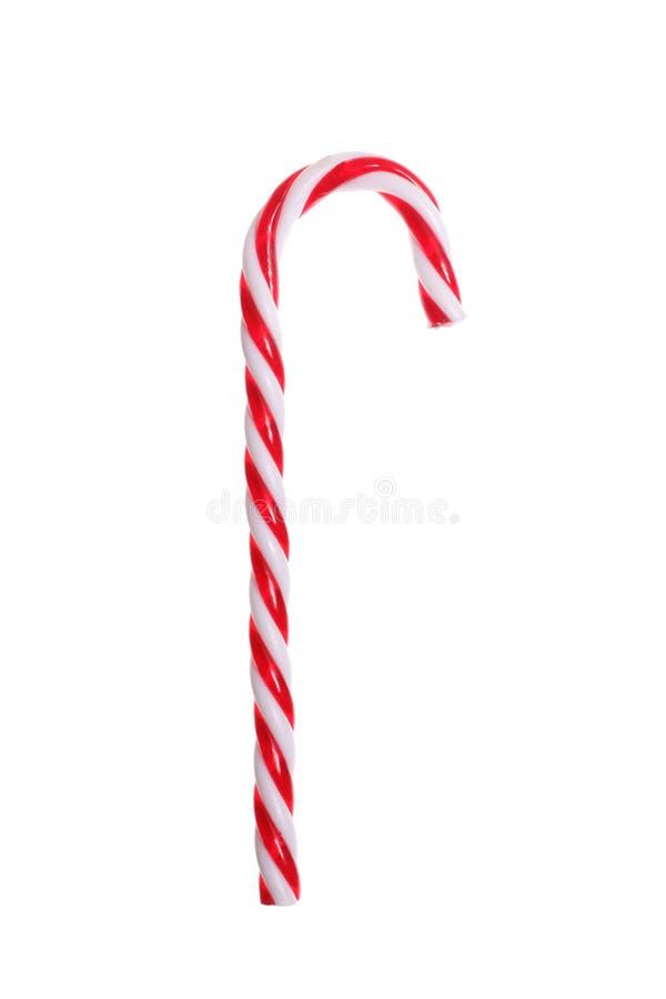 тросточка конфеты рождества изолированная на белой предпосылке при включенный путь клиппирования стоковая фотография