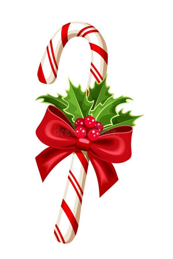 Тросточка конфеты рождества. бесплатная иллюстрация