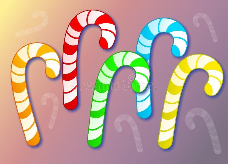 тросточки конфеты иллюстрация вектора