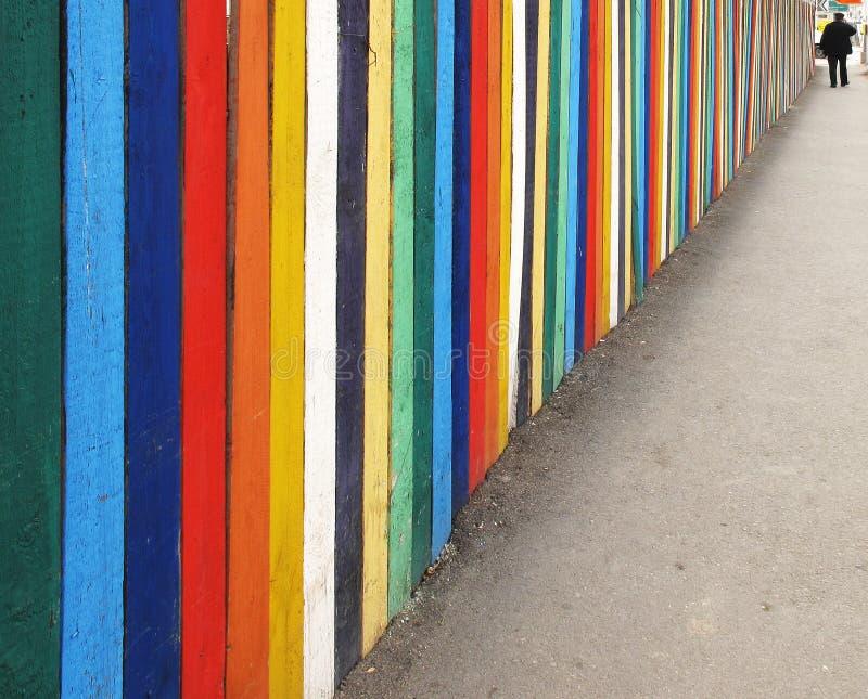 тротуар загородки деревянный стоковые фотографии rf