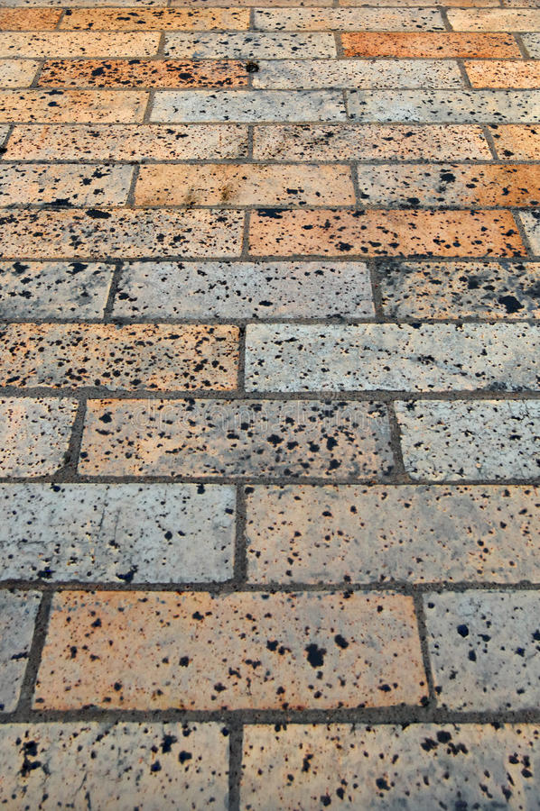 тротуар кирпича стоковая фотография
