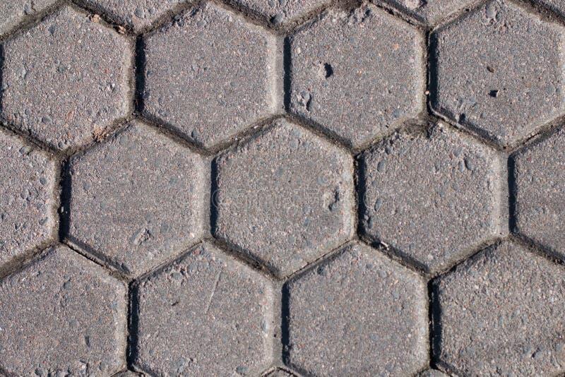 Тротуар цемента картины шестиугольника стоковая фотография rf