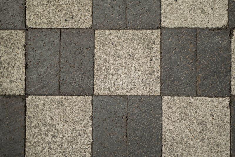 Тротуар шахматной доски кирпича стоковое фото