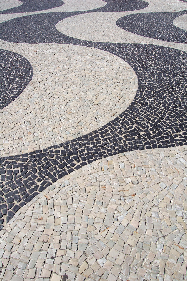 тротуар copacabana стоковые изображения rf