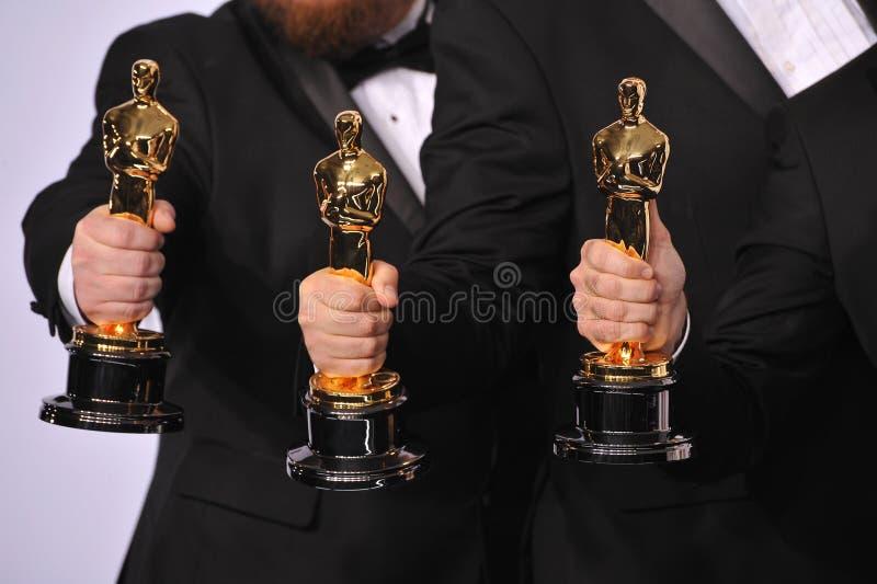 Трофеи Оскара стоковые изображения