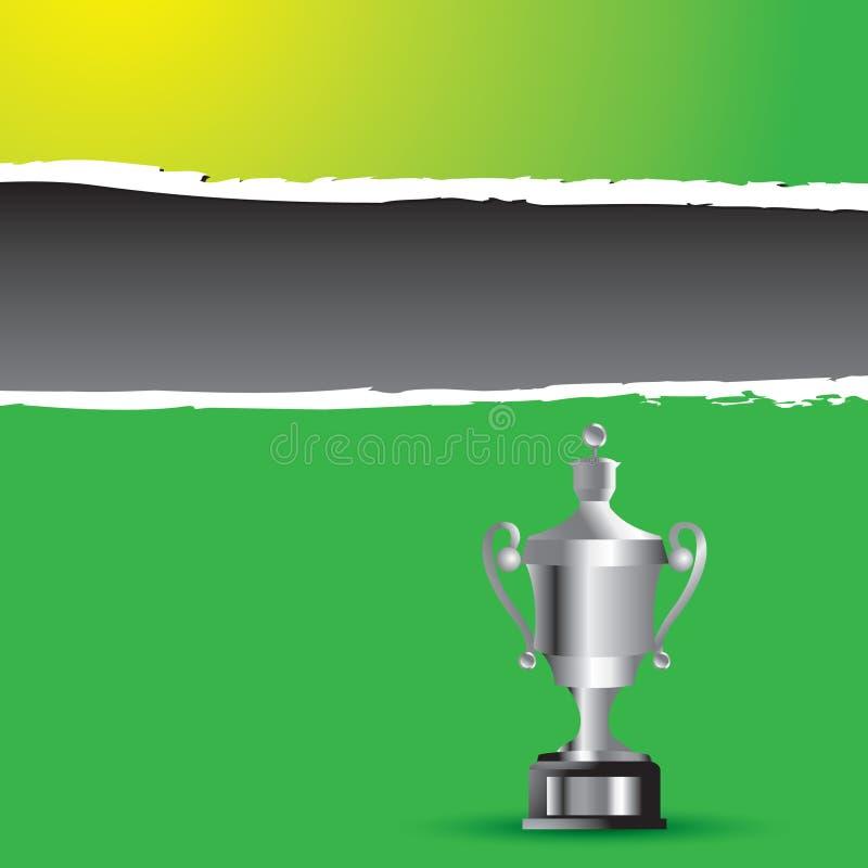 трофей знамени разработанный зеленый сорванный бесплатная иллюстрация
