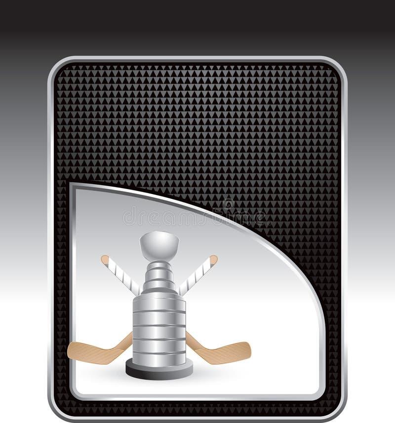 трофей ручек хоккея предпосылки checkered иллюстрация вектора