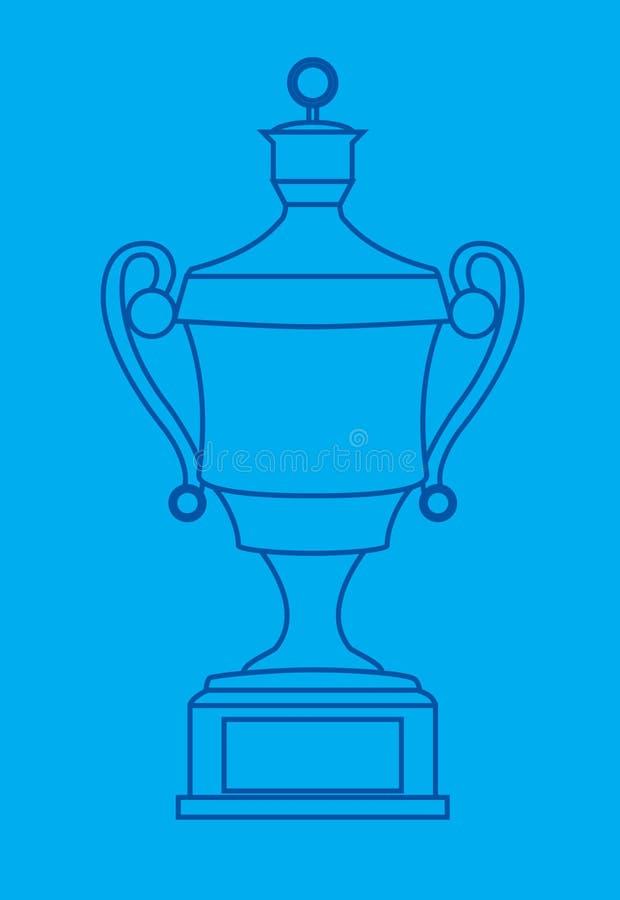 трофей светокопии разработанный иллюстрация вектора