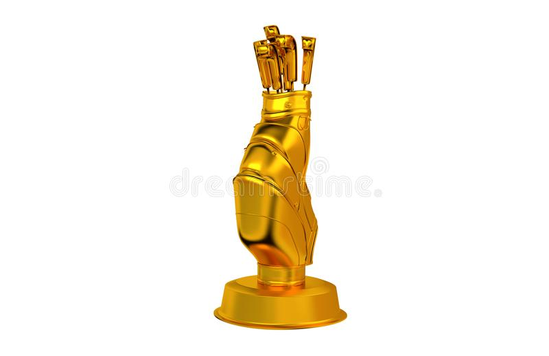 Трофей сумки гольфа золотой бесплатная иллюстрация