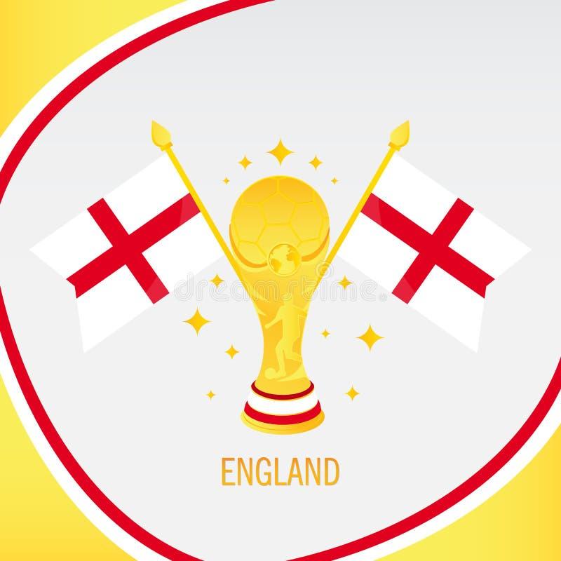 Трофей/чашка и флаг футбола золота Англии бесплатная иллюстрация