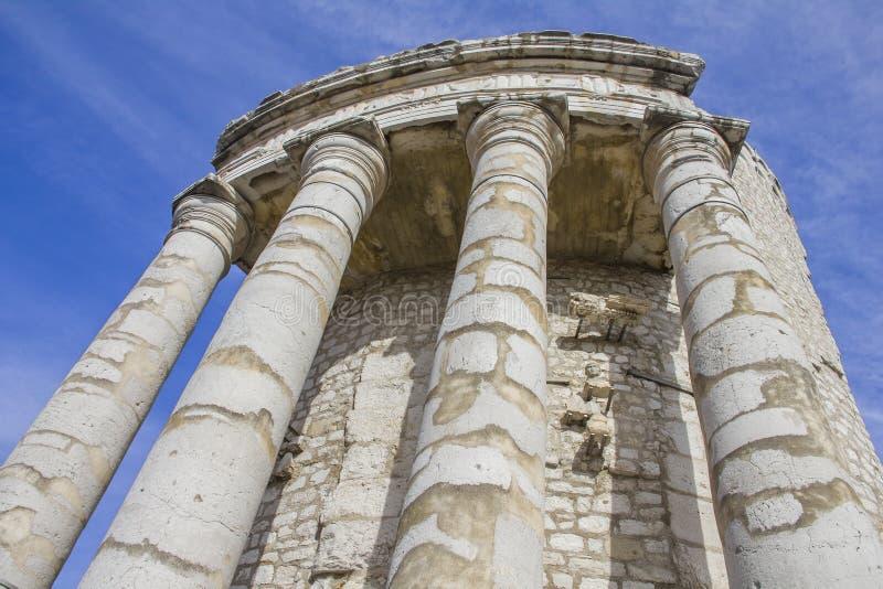 Трофей Augustus в Ла Turbie, французском Ривьере стоковое фото