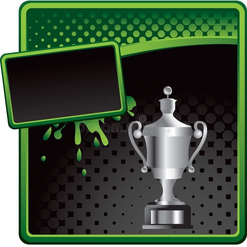 трофей halftone объявления черный разработанный зеленый иллюстрация вектора