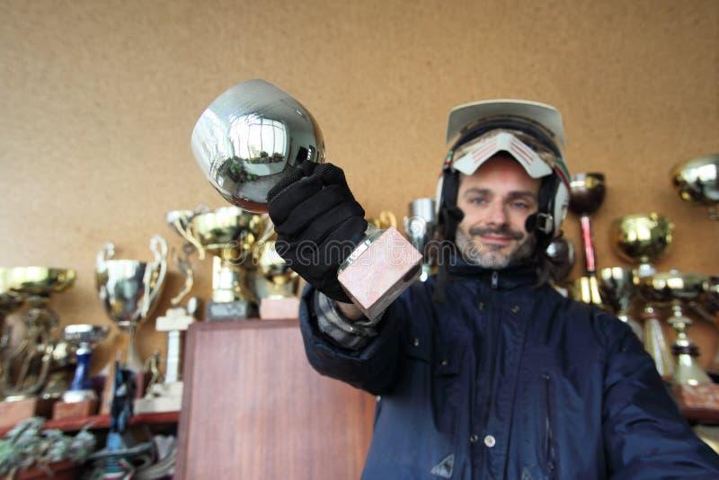 трофей motorcyclist стоковые изображения