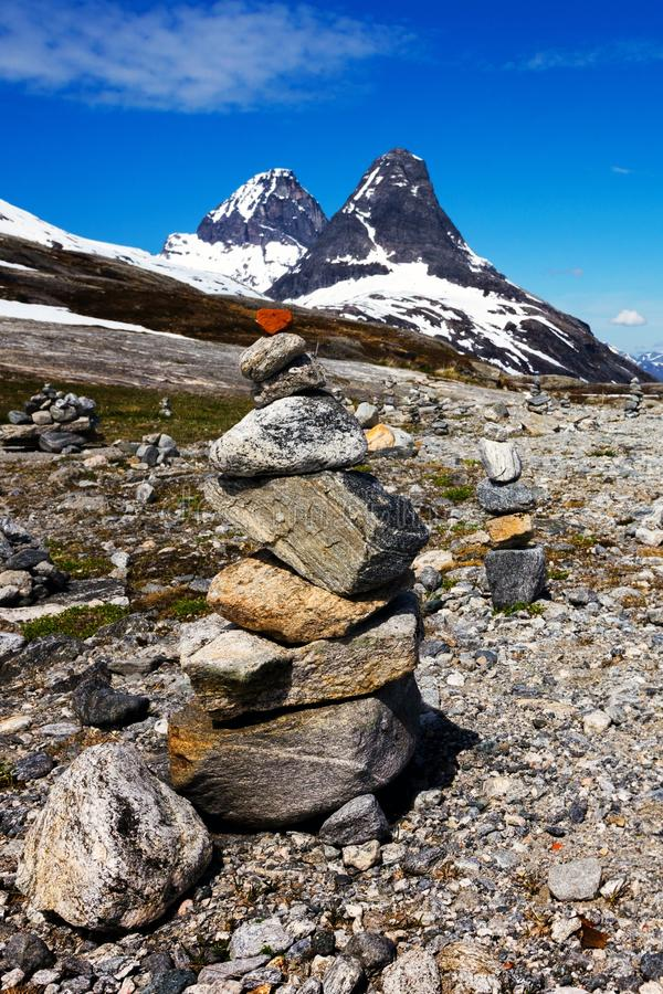 Тролль - пирамида камней стоковое изображение