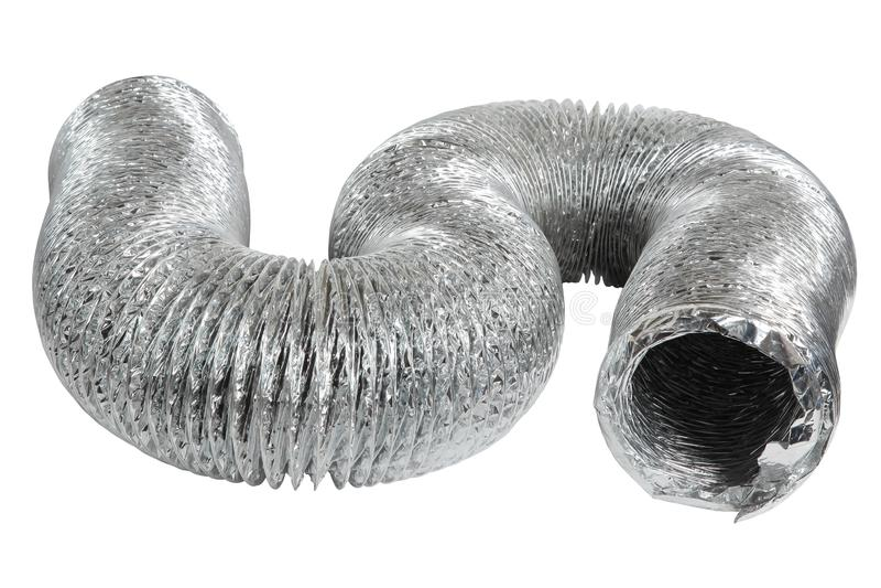 Труба вентиляции вытыхания изолированная на белой предпосылке стоковое фото rf