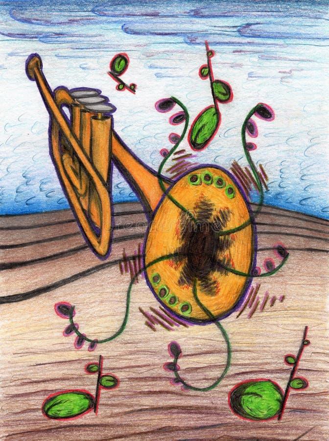 Труба в ландшафте цветка стоковые изображения rf
