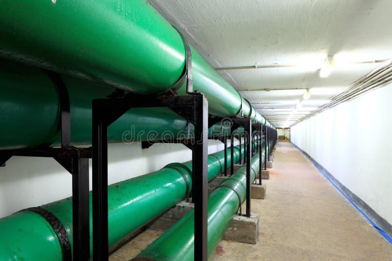 Труба дренажа внутри подземная стоковое изображение rf