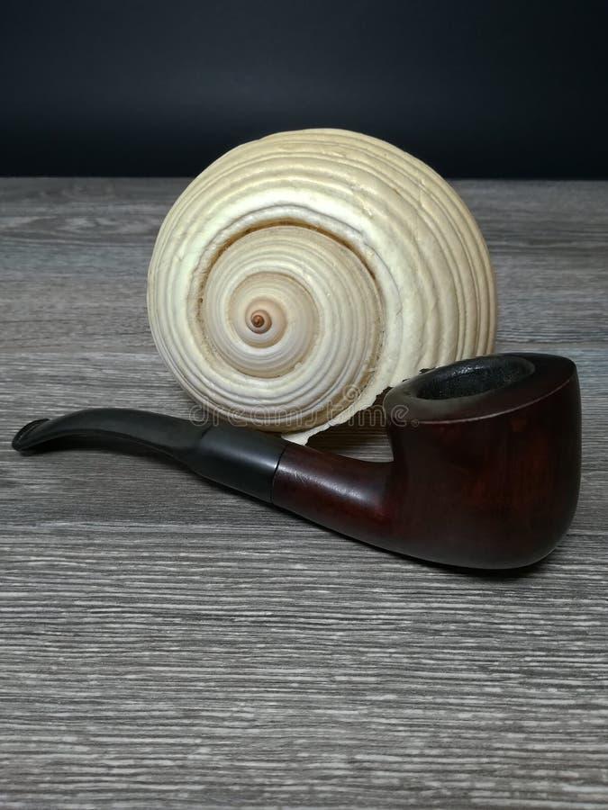 Труба табака, и надувательство моря стоковые фото