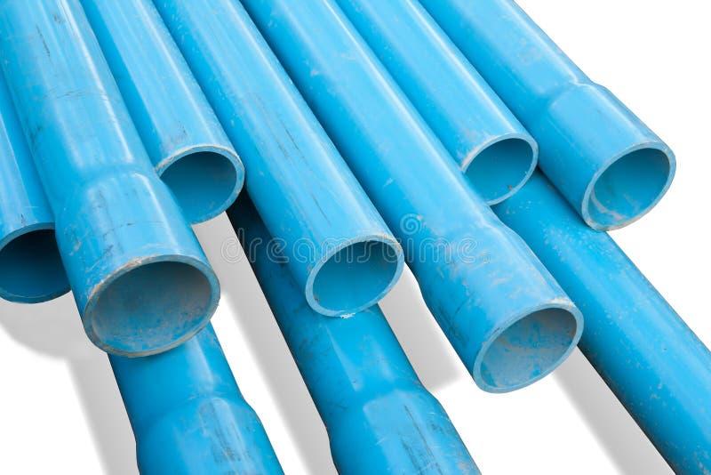 Труба PVC, голубая труба стоковое фото rf