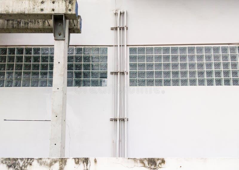 Труба PVC системы кондиционера стоковая фотография