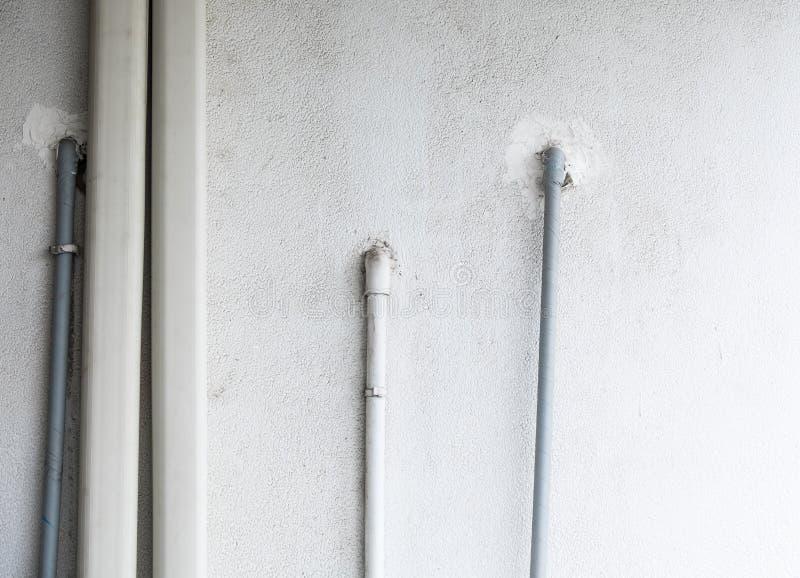 Труба PVC системы кондиционера стоковое изображение