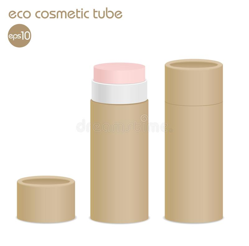 Трубка косметики eco Брайна иллюстрация штока