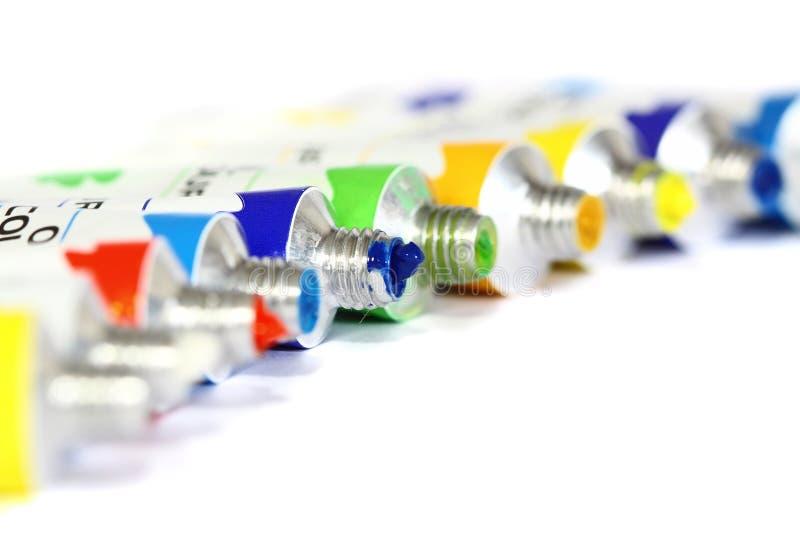 Трубки d краски масла стоковая фотография rf