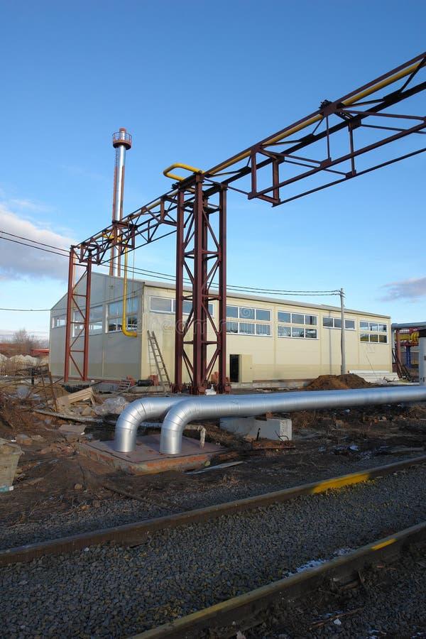 трубопровод дома газа боилера стоковые фотографии rf