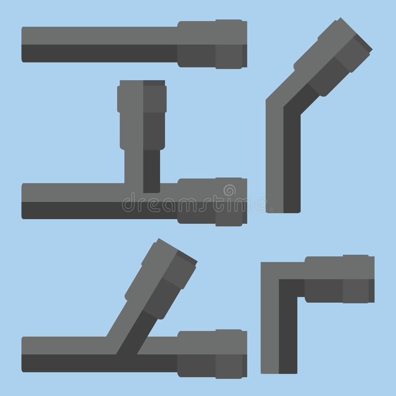 Трубы вектора иллюстрация штока