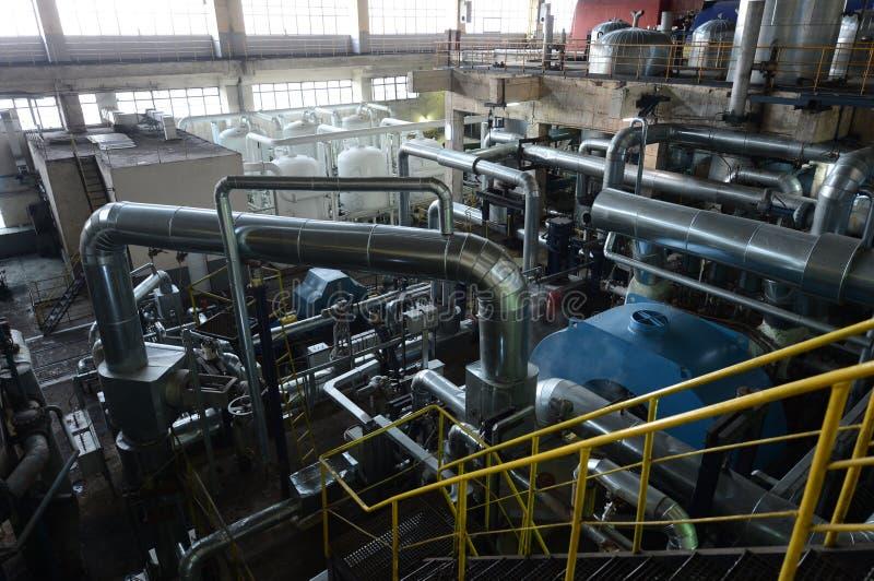 Трубы в электростанции стоковые изображения