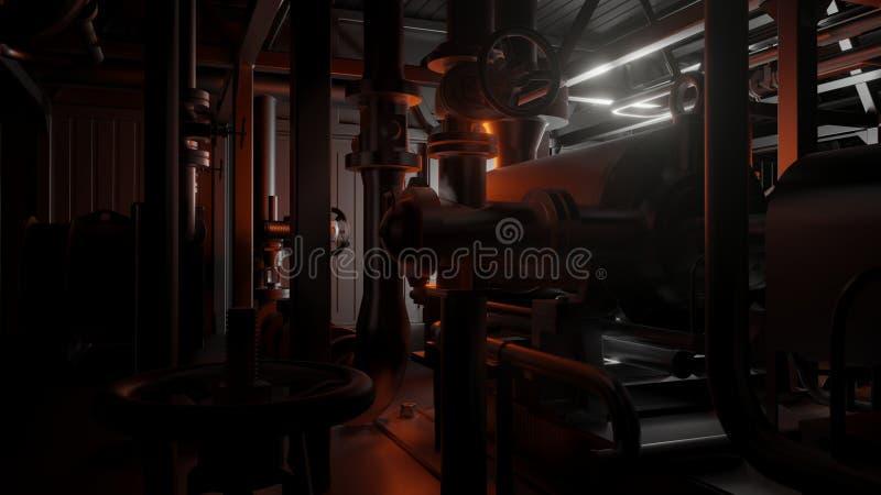 Трубы и клапаны металла бесплатная иллюстрация