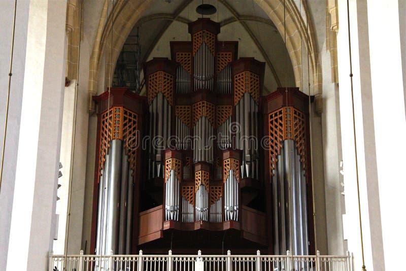 Трубы органа в Frauenkirche в Мюнхене, Германии стоковое изображение rf