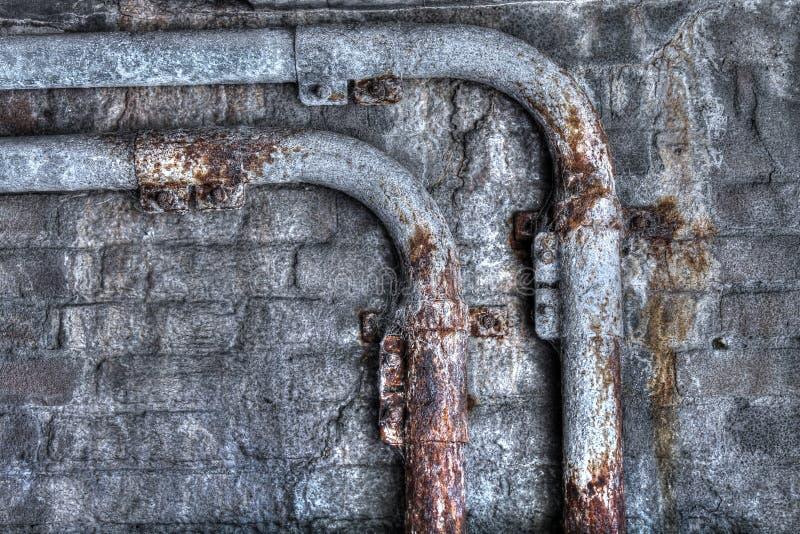 Трубы Grunge ржавые стоковые фотографии rf
