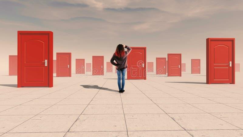 Трудные двери решений стоковое фото