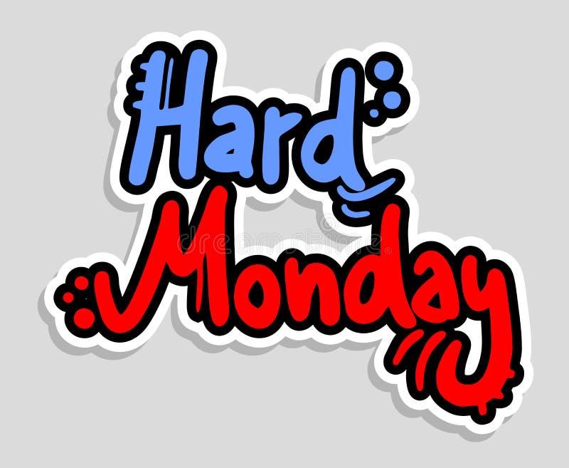 Трудный понедельник иллюстрация штока