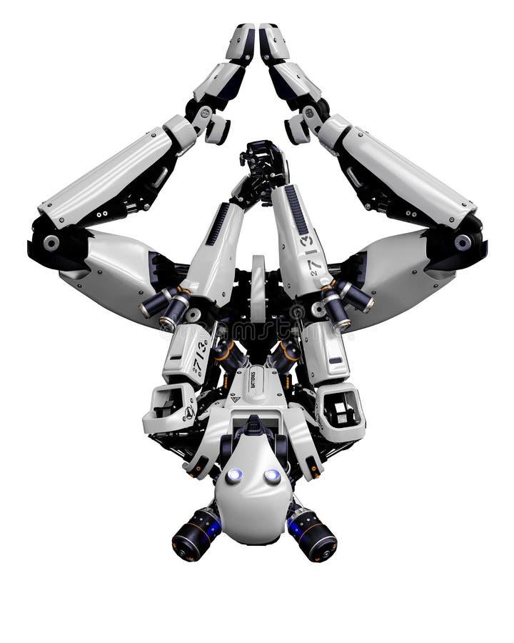 Трутень мега робота супер в белой предпосылке бесплатная иллюстрация