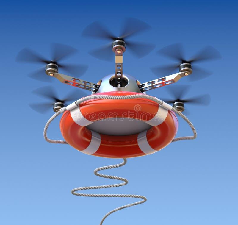 Трутень с lifebuoy бесплатная иллюстрация