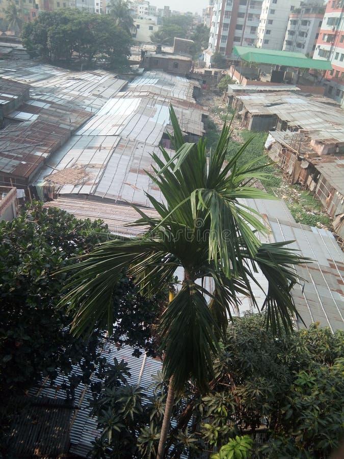 Трущоба Дакки Бангладеша стоковое фото