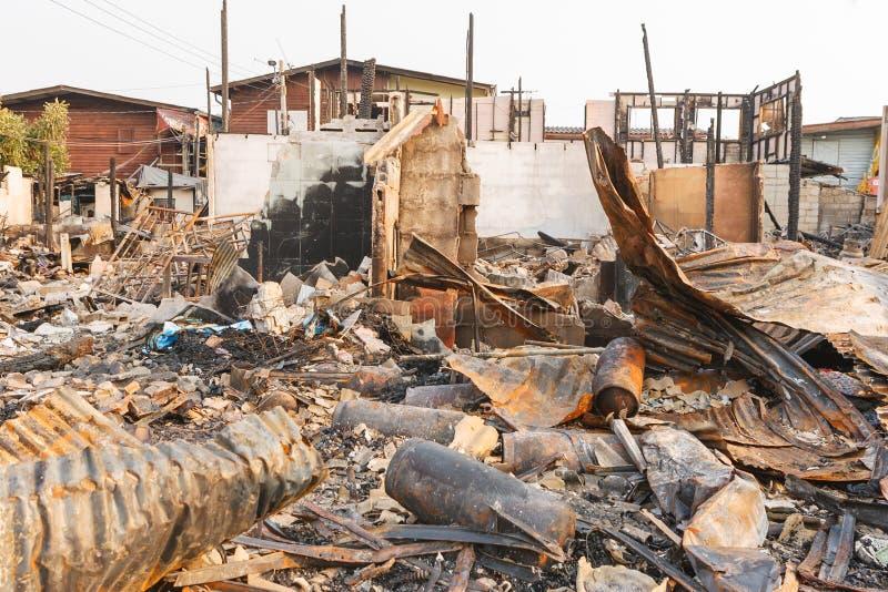 трущоба пожара стоковое изображение