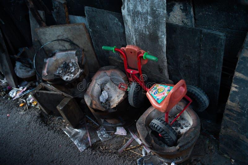 Трущоба Klongtoey стоковое изображение rf
