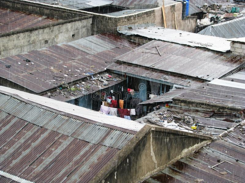 Трущобы в Африке стоковая фотография