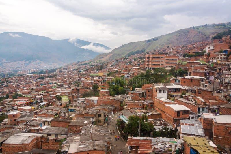 Трущобы Medellin стоковые изображения rf