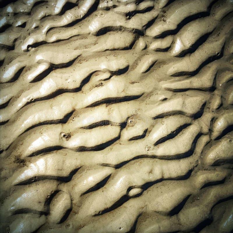 Трудный, который струят песок стоковые фотографии rf
