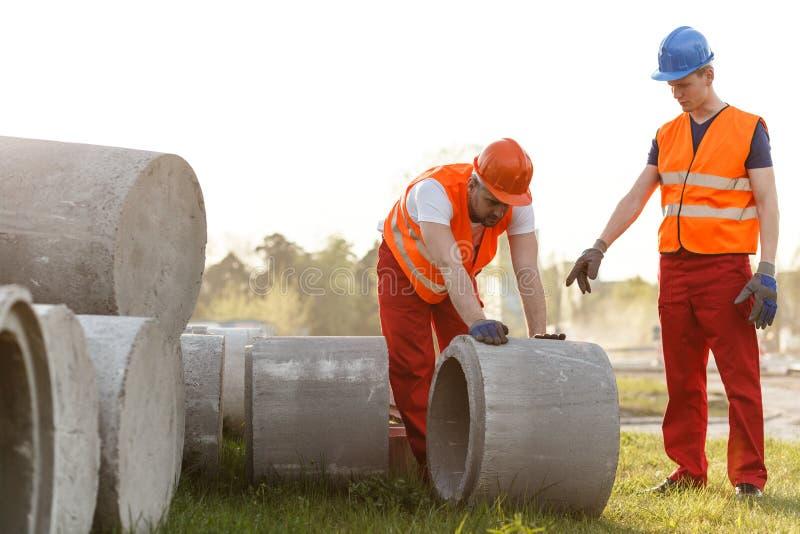Трудный работая построитель дороги стоковое изображение rf