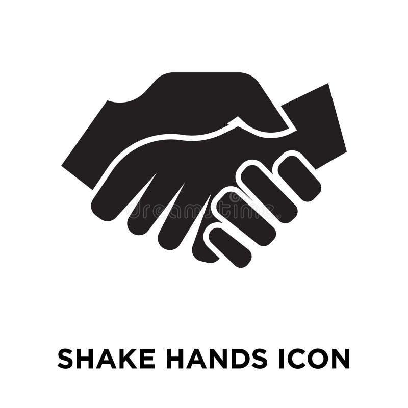 Трясите вектор значка рук изолированный на белой предпосылке, conce логотипа иллюстрация вектора